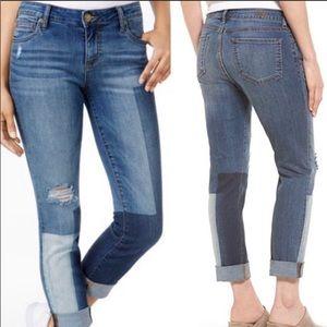 Kut Kloth Catherine Color-block Boyfriend Jeans